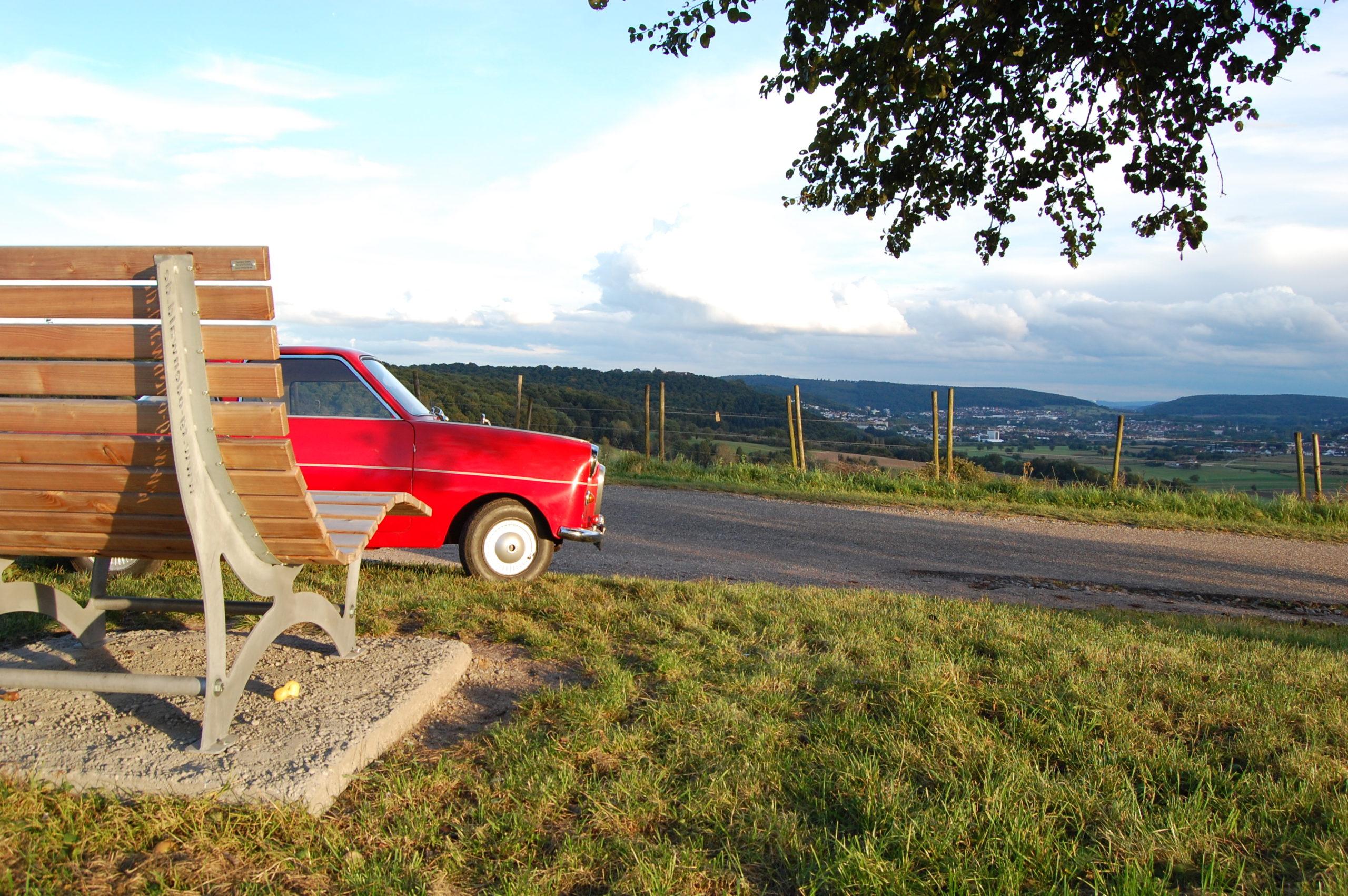 Schnappschüsse: Goggo auf der Binauer Höhe mit Blick über das Neckartal