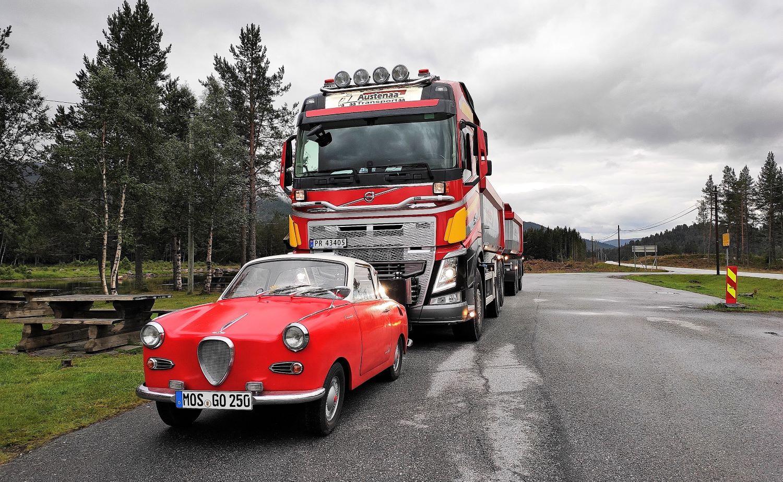 GO250: Ungleicher Vergleich: Goggo Coupe vs. Volvo Truck