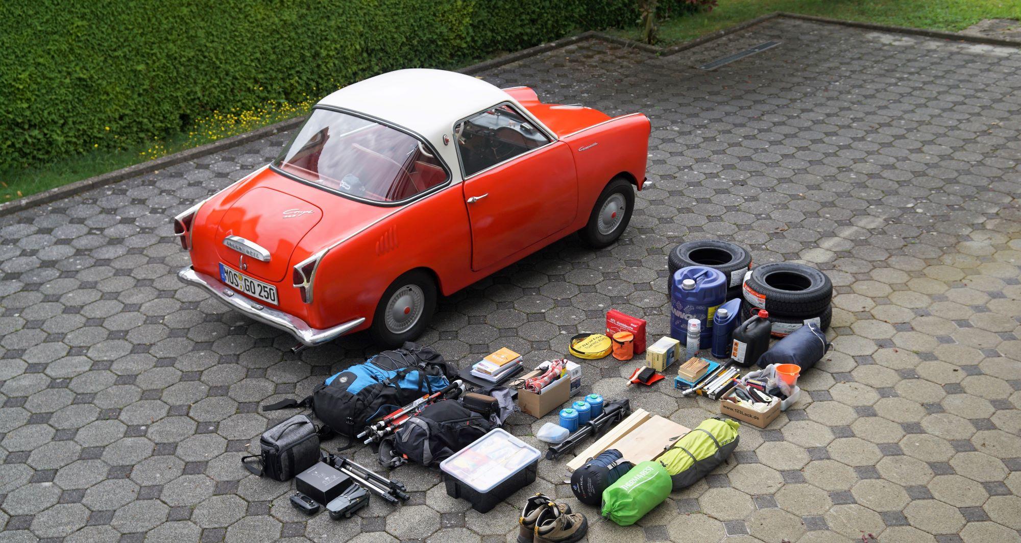 Goggo-Touren: Ausrüstung in Goggo verstauen