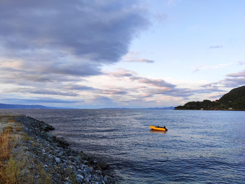Goggo-Reise nach Norwegen: Ruhe vor der Regenfront am Campingplatz kurz vor Trondheim