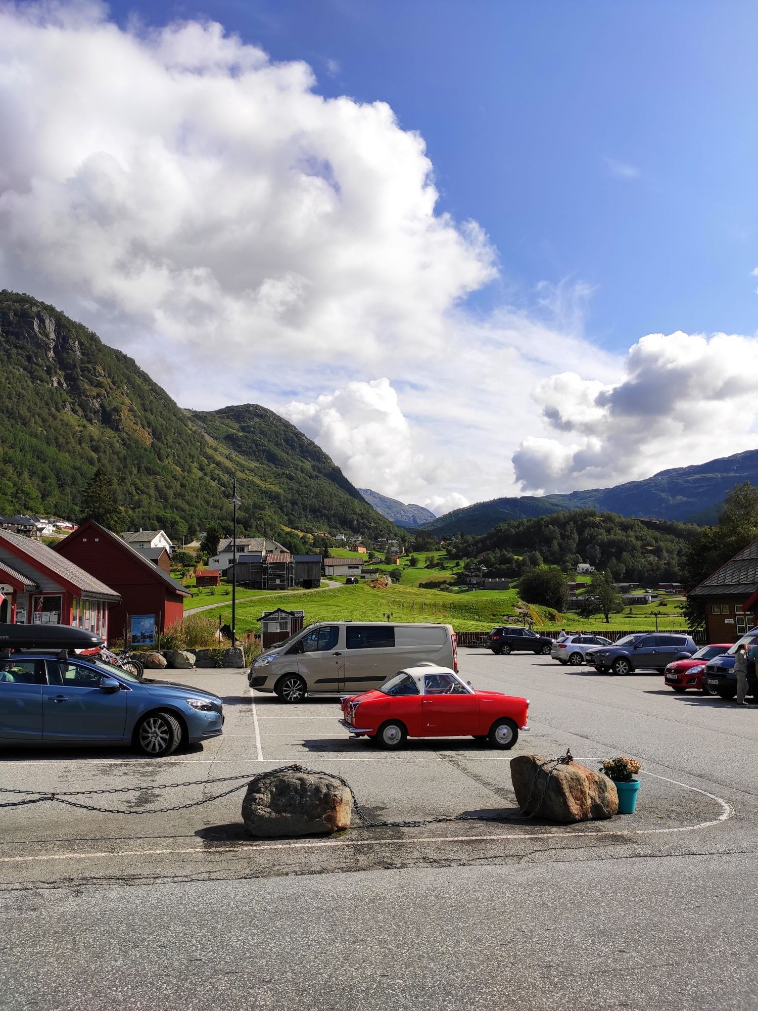 Parkplatz in Røldal